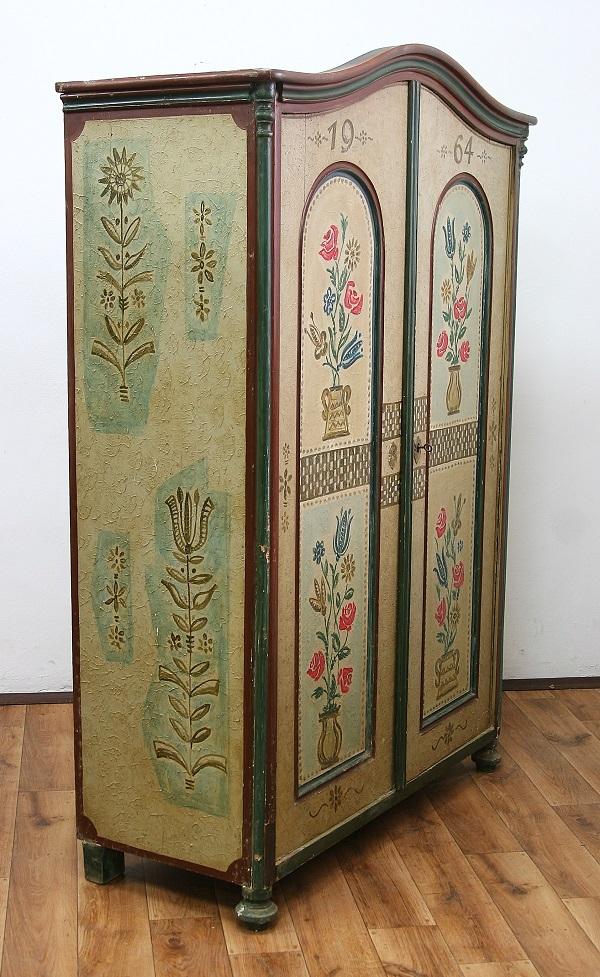 Szafa Ludwikowska Malowana Vintage